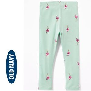 NWT Old Navy Mint Flamingo Full Length Leggings 2T